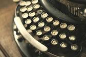 Old vintage retro wooden typewriter — Foto de Stock