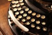 Old vintage retro wooden typewriter — Stock Photo