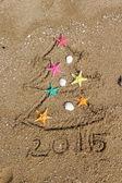 Noël et nouvel an sur la plage — Photo