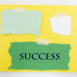 Success Yellow And Green Background - Stock Photo