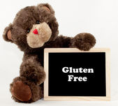 Gluten Free Bear Chalkboard — Stock Photo