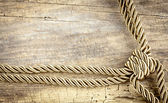 Corner Rope On Wooden Table — Stock Photo