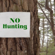 Stock Photo: No Hunting