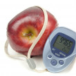 Stock Photo: Apple And Pedometer