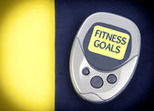 Pedometer Fitness Goals — Stock Photo