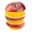 Stock Photo: Apples And Oranges Stack