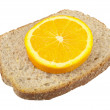 Bread And A Slice Of Lemon - Stock Photo