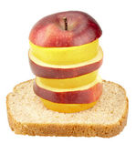 Healthy Stack Fruit Sandwich — Stock Photo