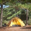 Stock Photo: Tent Camping On Beaufitul Summer Day