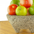 Molcajete Bowl Filled — Stock Photo