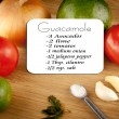 Stock Photo: Guacamole Recipe With Ingredients
