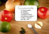 Guacamole Recipe With Ingredients — Stock fotografie