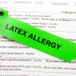 Stock Photo: Latex Allergy And Paperwork