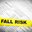 Stock Photo: Fall Risk Patient Bracelet