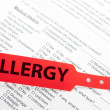 Stock Photo: Patient Allergy Red Wrist Brand