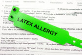 Latex Allergy And Paperwork — Stock Photo