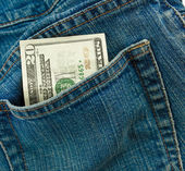 Cash In Pocket — Stockfoto