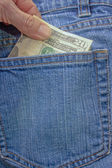 Back Pocket Twenty Cash — Stock Photo