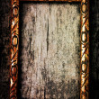 Old golden wooden frame — Stock Photo