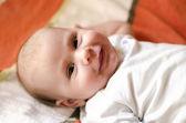 Baby smiling — Stock Photo