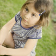 Portrait of a beautiful toddler girl — Stock Photo