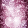 Grunge hearts background - Stock Photo