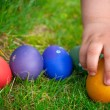 Easter eggs hunt - Stock Photo