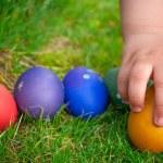 Easter eggs hunt — Stock Photo #20111327