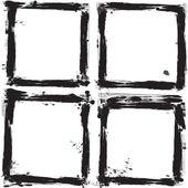 Set of grunge frames. Vector illustration. — Stock Vector