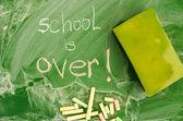 Conseil de classe verte avec l'école est au cours de l'écriture manuscrite — Photo