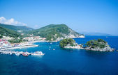 View from the top of the fortress at Panagia island in Parga Gre — Stock Photo