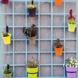 Foto Stock: Decorative Hanging Flower Pots