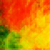 Barevné geometrické pozadí kartu s podzimní tóny — Stock fotografie