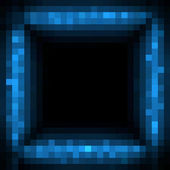 Abstract technology background, pixelated digital frame — Stock Photo