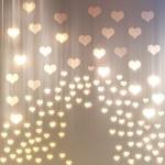 soyut kalp bokeh parlak arka plan — Stok fotoğraf