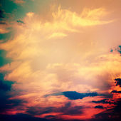 Dramatic Sky (cross-processed colors) — Stock Photo