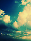 Beautiful Dramatic Sky (cross-processed colors) — Stock Photo