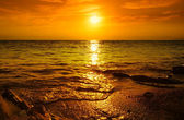Sunset on the beach — Stock Photo