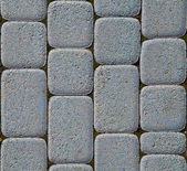 Blue block paving — Stock Photo