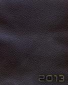 Läder nytt år 2013 bakgrund. svart. — Stockfoto