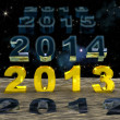 New Year 2013 over the sand of time — Stock Photo