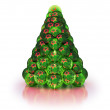 Stylized Christmas tree. Isolated on white — Stock Photo