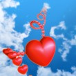 Red heart in the sky — Stock Photo #19186011