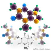 Molecule structure of caffeine — Stock Photo