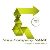 Arrow logo design — Stock Vector