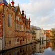 Canals of Bruges, Belgium — Stock Photo