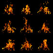 Flame set — Stock Photo