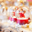 Christmas snow globes — Stock Photo