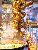 Pretzels and food — Foto Stock