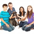 Happy Family With Rescue Dog — Stock Photo #46981129